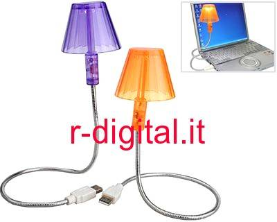 LAMPADA USB LIGHT 6 LED PC NOTEBOOK FLESSIBILE SNODABILE LUCE
