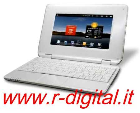 NETBOOK MINI AKAI NBPC724 ANDROID 7 POLLICI LED TABLET BIANCO