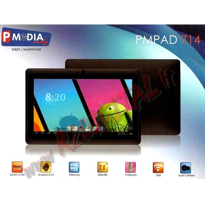 "TABLET PMPAD 7"" WIFI 3G 4G ANDROID QUAD HDMI"