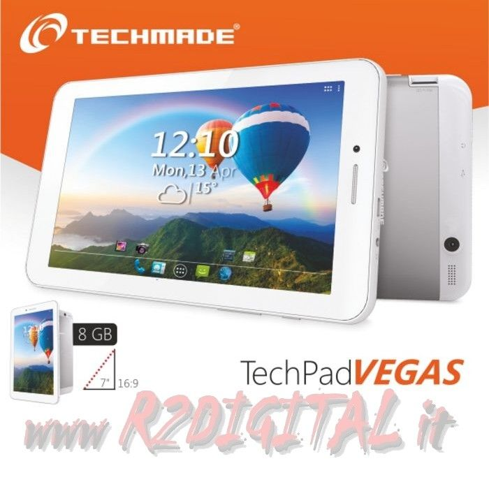 "TABLET TECHMADE PAD-VEGAS 7"" WIFI 3G 8G ANDROID QUAD HDMI"