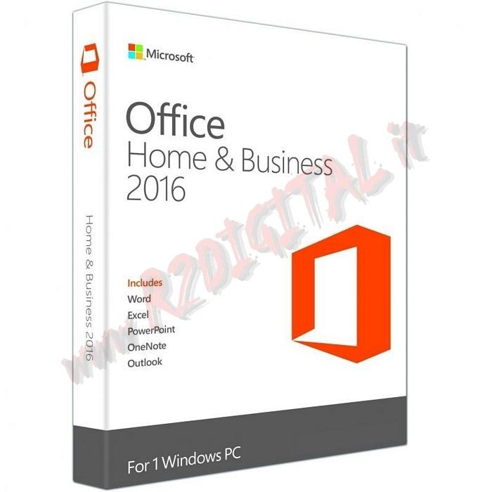 OFFICE 2016 HOME BUSINESS FULL PACK KEY BOX MICROSOFT ORIGINALE
