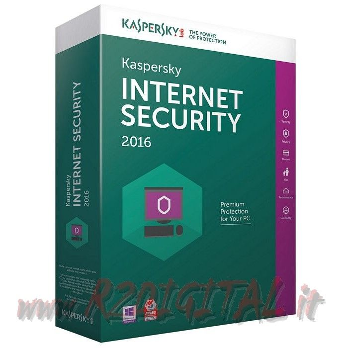 ANTIVIRUS KASPERSKY INTERNET SECURITY 2016 ESD 1Pc 1Anno 355gg