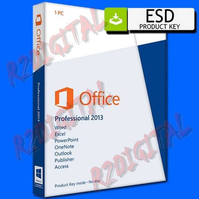 OFFICE 2013 PROFESSIONAL ESD MICROSOFT PRO OEM SOFTWARE