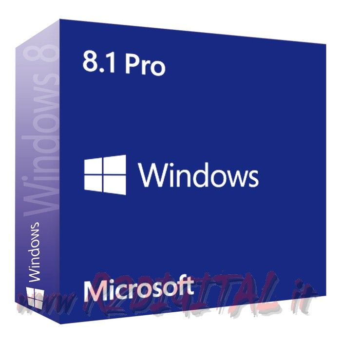 WINDOWS 8.1 PROFESSIONAL ESD ADESIVO PRO 32 64 OEM SOFTWARE