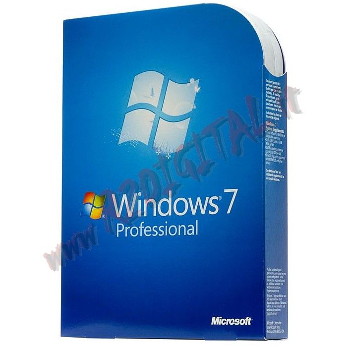 WINDOWS 7 PROFESSIONAL DVD PACK SEVEN SP1 64BIT ITA OEM SOFTWARE