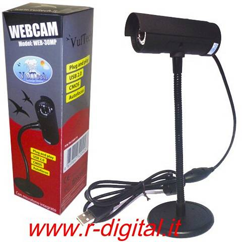 WEBCAM 30 MEGA PIXEL MICROFONO WEB CAM 6 LED USB CAMERA c PIEDE