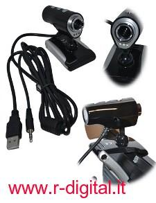 WEBCAM 16 MEGA PIXEL MICROFONO WEB CAM 3 MICRO LED USB CAMERA