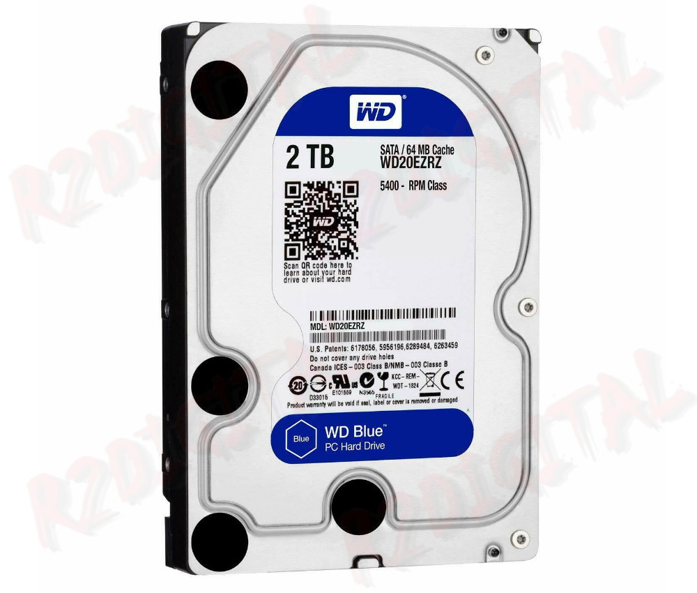 "HARD DISK WESTERN DIGITAL 2Tb WD BLUE 3,5"" 2000Gb"