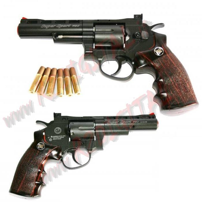 PISTOLA CO2 REVOLVER SUPER SPORT A TAMBURO WIN GUN C701 6mm