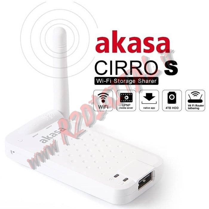 AKASA CIRRO S CONNESSIONE HARD DISK WIFI SMARTPHONE TABLET UPNP