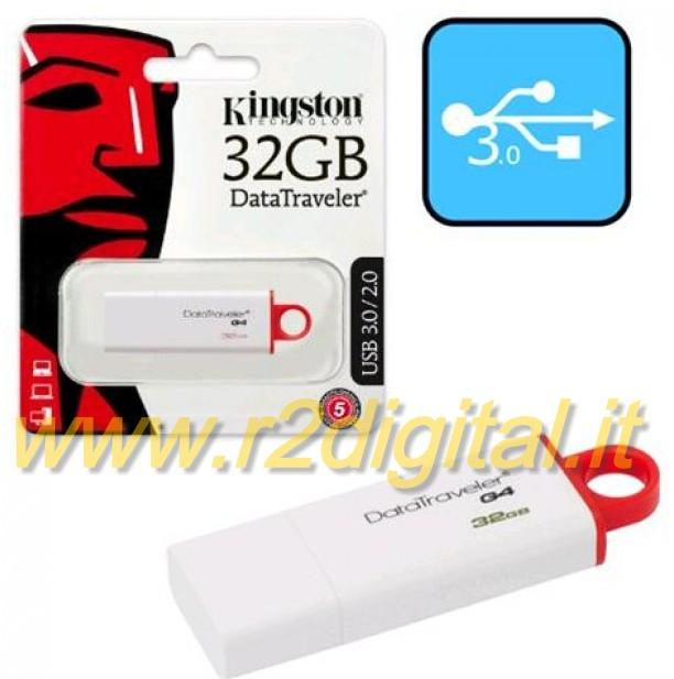 PENDRIVE DTIG4 KINGSTON 32 GB USB 3.0 PENNA ALTA VELOCITA PEN
