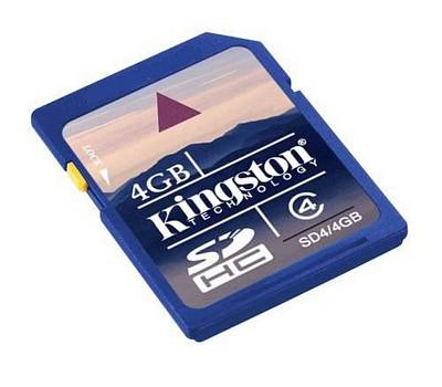 SD SECURE DIGITAL KINGSTON 4GB TRANSFLASH SCHEDA MEMORIA