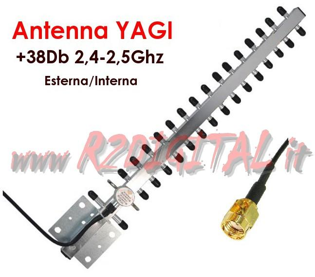 ANTENNA YAGI 38Db 300Mbps SMA WIFI ROUTER ACCESS POINT WIRELESS