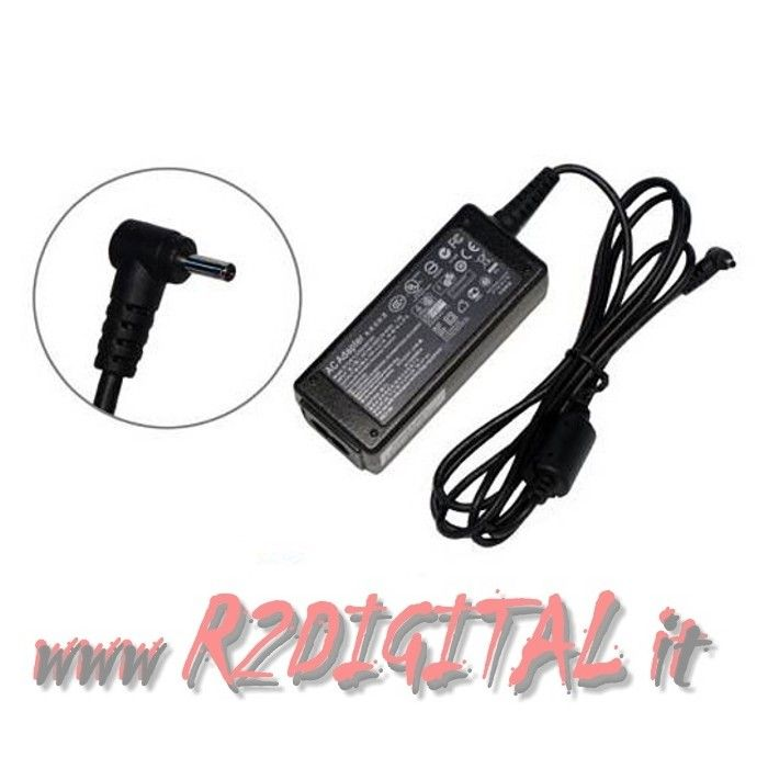 ALIMENTATORE ASUS 40W 19V 2.1A 2.3/0.7 mm RICAMBIO NETBOOK EEEPC