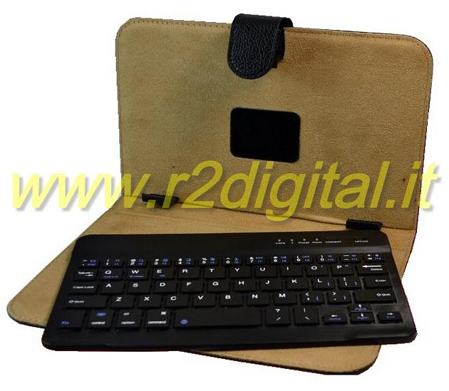 "TASTIERA BLUETOOTH TABLET 9"" e 10"" UNIVERSALE USB COVER CUSTODIA"
